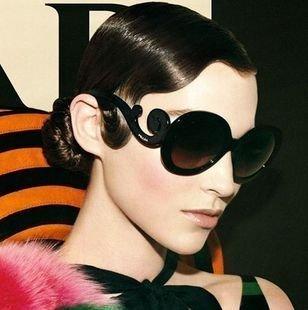 Free shipping on sale fashion Summer Sunglasses women Super Star Fashion Brand black frog glasses retro4-2505