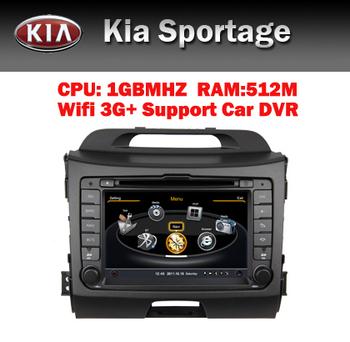 3G Wifi Car Radio GPS for Kia Sportage GPS Bluetooth Radio Car DVR RDS USB SD IPOD Steering Wheel Control Free Shippig