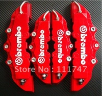 4 pcs Red 3D Brembo style Front + Rear Disc Brake Caliper Cover Set Free Shipping