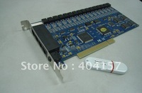 16 channel telephone voice recorder card, PCI recording card,cheapest with second developing function