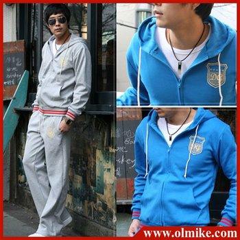 Free shipping fashion sports wear for men gym suits men's cotton leisure tracksuit/ sweatsuit wholesale & retail 4 color M-XXXL