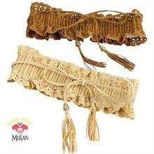 12 pcs/Lot, Free Shipping, Wholesale 2012 Fashion Lady Wide Elastic Stretch Fringe Lace Belt Waistband, 3 Colour(China (Mainland))