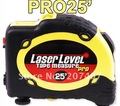 New Pro 25&#39; Laser Level Tape Measure Horizontal Vertical 25 Feet