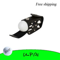 Free shipping! Golf Ball Tee Set Holder Hold Leather Pouch Golfer Club Clip On Portable