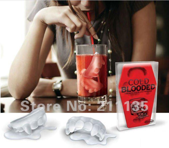 Atacado 10pcs frete grátis / muito Teeth Mold Ice Maker Silicone Mould(China (Mainland))