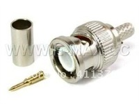 BNC male crimp plug for RG59 coaxial cable