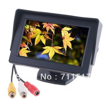 "Car Rearview Monitor 4.3"" Color TFT LCD Works with DVD/Serveillance Camera/STB/Satellite Receiver"