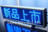 Free shipping SMD Blue color eight letters multi-language rechargeable portable led display sign 2pcs/lot