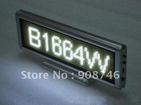 Free shipping SMD white color 16 x 64pixels multi-language rechargeable light weight led sign board 2pcs/lot