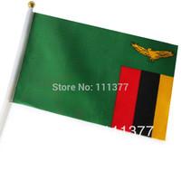 Free shipping Zambia small National flags