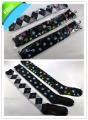 Free Shipping 10 pairs/lot Women's Ladies fashion new checked black cotton knee high socks