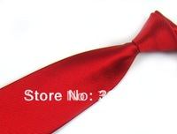 Mens 8 CM Necktie Neck Ties Solid Red Microfiber High Quality Business Ties Men Accessories Free Shipping 10 PCS
