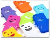 1pcs/lot Angel Smile Design Silicon Skin Case For iPhone 4 hot sell