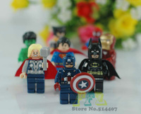 New Arrival Heroes Minifigures Action Toy 8pcs Heroes Figures Spideman/Hulk/Batman/Ironman/Xman Without Original Box