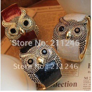 Free shipping 2012 Newest fashion bracelet Jewelry Hot sale Wholesale The popular trend of mashups retro the drip owl bracelet