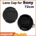Free Shipping 72mm Black Lens cap for All Sony with anti lost strap