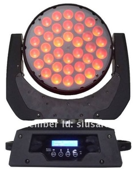 1178USD with free shipping for 2pcs of 36*10W RGBW Quad-color 4in1 led moving wash with zoom function