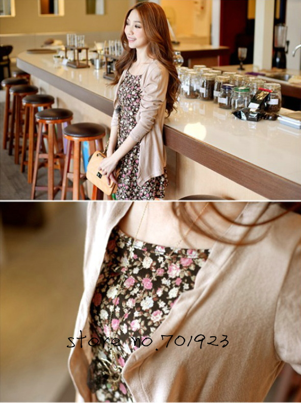 Holiday Sale 2PCS COTTON CARDIGAN+PRINTED HALTER TOP Y3037
