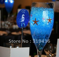 novelty wedding party decoration using blue magic water crystal beads pearl ball for vase filler decoration centrepiece