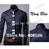 2013 New Men Slim Fit Silk Sleeve&Collar Stylish Shirts South Korea long sleeve Dress Shirts 3colors M,L,XL,XXL dropshiping 36