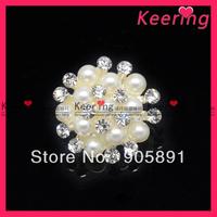 Wholesale pearl mix rhinestone button  WBK-1107