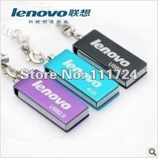 pen drive 10pcs /lot USB Flash Memory Stick Drive Lenovo Metal mini small rotation Wholesale 8GB/16GB/32GB USB Flash Drive