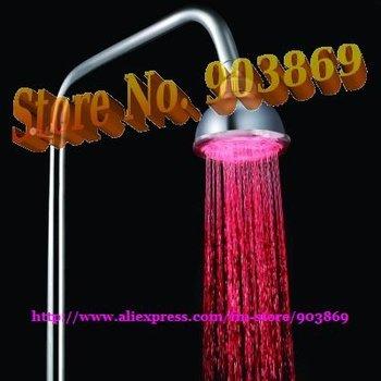 LED light bathroom shower head Rainbow Top Shower head,self-powered led shower head,LED Overhead shower,100pcs/LOT