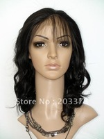 12-24inch Synthetic Lace Front Wig Body Wavy #2 Dark Brown Heat Resistant Hair Free Shipping