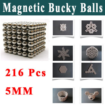 New Shock Toys 216 Pcs Magnet Magnetic Bucky Balls Buckyballs Sphere Cube Puzzle Neocube Kids Educational Toys Freeshipping