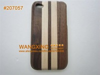 New Dark Modern Striped Design, For iPhone 4 4S Wooden Cases,Hand Made, Best Cool Cheap, Promotion, Retail, Wholesale, #207057