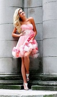 Fashion style factory price short graduation gown dresses