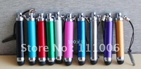 100pcs/lot DHL Free ,Retractable Capacitive Stylus Touch Pen For iPad 2 iPhone 4S 4 3GS iPod Touch By Hongkong post IF-0198