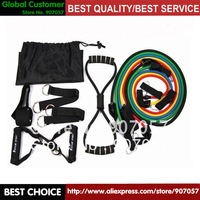 12pcs/lot 12 in 1 Fitness Resistance Bands for Yoga Pilates Workout  home using free shipping
