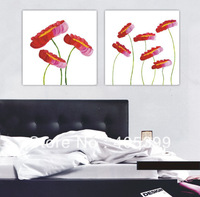 Free Shipping !!!  Real Handmade Modern  Canvas Oil Painting Wall Art ,House Decoration -Flowers Painting  zsh2p002