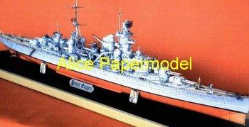 [Alice papermodel] Long 1.1 meter 1:200 WWII sms Heavy cruiser DKM Prinz Eugen destoryer battleship heavy cruiser models