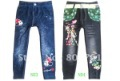 popular jeans pants with lovely princess design cartoon pants various colors free shipping