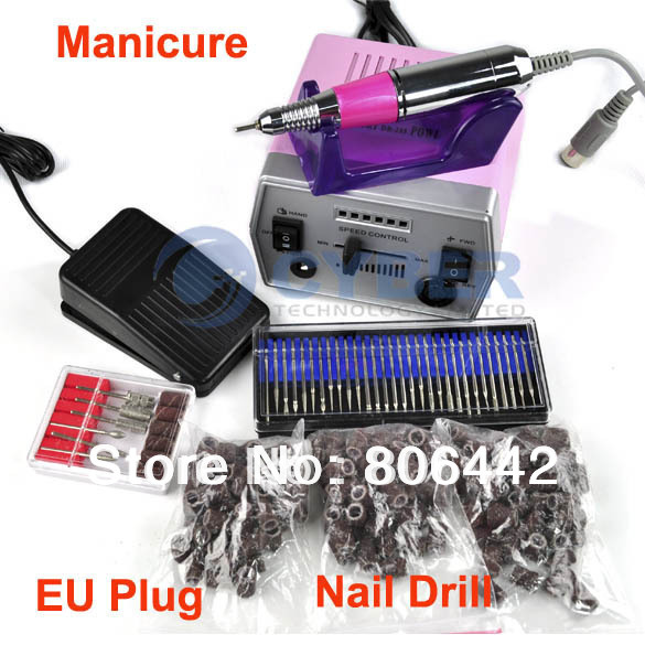 30000 RPM Pro Electric Art Nail Drill File Improved Overheat + Vibration Manicure Set EU Plug Free Shipping 3197(China (Mainland))
