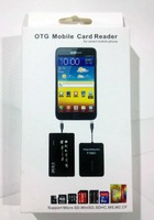 OTG Mobile Card reader .for samsung GALAXY phone card reader OTG phone card reader 50pcs/lot