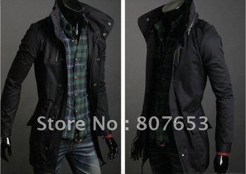 Hoodies Men trench coats cotton outwear Clothing fashion Korea tops Men  winter outcoats temperament  jacket