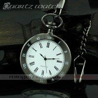 MINGEN SHOP - Fashion Roman style men antique pocket watch Black S212-1 watch wholesale