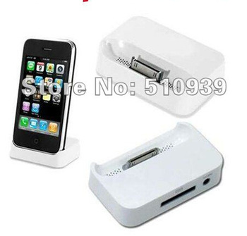 Free Shipping Black and white Dock Cradle Charger Station for IPHONE 4 4G/4S
