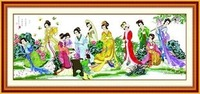 Textile & Fabric Crafts order Free cross stitch cross stitch pattern China twelve beauties of a dream of Red Mansions