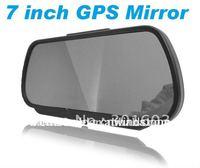 7 Inch GPS Mirror Navigation High Definition Bluetooth Handsfree