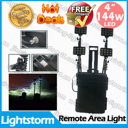 144w Powerful remote led work light, Free shipping , 8000 lumens brightness rechargeable Emergency Led lighting system(China (Mainland))