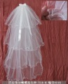 Wholesale 1.5 metres long 4 layers With Ribbon Bows wedding veils