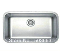 Free Shipping Fashion New SS304 Stainless Steel Square Single Bowl Kitchen Sink With Faucet b9A1