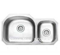 Free Shipping Fashion New SS304 Stainless Steel Square Single Bowl Kitchen Sink With Faucet 13A1