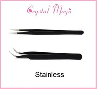 Wholesale eyelash extension Tweezers, nail Rhinestone tweezer, curve & straight