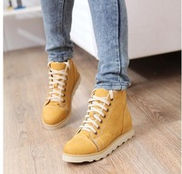 2014 new spring autumn zipper decoration fashion motorcycle martin ankle boots for women cross straps lace shoes plus size