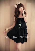 Best selling Dress Bra multi-level monochrome chiffon princess dress dress sale 2012 latest summer ,discount